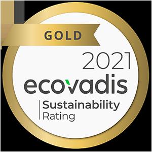 Ecovadis Sustainability Gold Award
